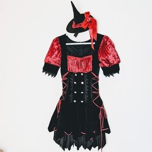 Leg Avenue red & black sassy witch costume. Sz S/M